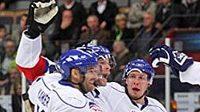 Takhle hokejisté Curychu slavili výhru nad Linköpingem