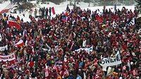 Polští fanoušci na skocích na lyžích