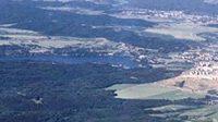 Letecký snímek Masarykova okruhu u Brna.