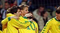 Fotbalisté Litvy se radují, neboť na úvod kvalifikace se postarali o překvapení. Zatím ovšem o jediné...