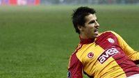 Milan Baroš slaví gól v dresu Galatasaray Istanbul
