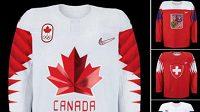 Vizualizace hokejových dresů pro zimní olympiádu v Pchjongčchangu.