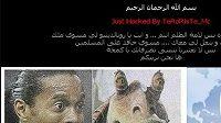 Hacker umístil na webové stránky fotbalisty Ronaldinha fotografii zavražděného teroristy Usámy bin Ládina.