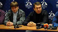 Dušan Uhrin (vlevo) se právě loučí s vedením Dinamem Tbilisi, pro Plzeň je teď volný...