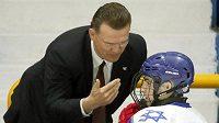 Bobby Holík na lavičce izraelské reprezentace.