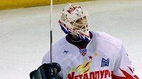 Brankář Magnitogorsku Ilja Proskurjakov