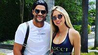 Brazilský fotbalista Hulk si vzal po rozvodu neteř své bývalé manželky Camilu.