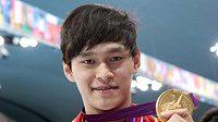 Čínský plavec Sun Jang.