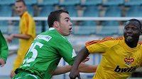 Kamerunec Dani Chigou se zapsal v zápase s Čáslaví rovněž mezi střelce.