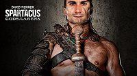 Španělský tenista David Ferrer jako Spartakus - Bůh arény.