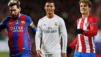 Lionel Messi, Cristiano Ronaldo nebo Antoine Griezmann? Kdo z nich se bude radovat?