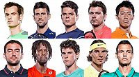 Deset nejlepších tenistů letošní sezóny.