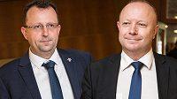 Kandidáti na předsedu FAČR - zleva Martin Malík a Petr Fousek.