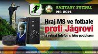 Hrajte MS ve fotbale proti Jágrovi!