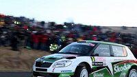 Jan Kopecký s vozem Škoda Fabia S2000 ovládl Hustopečskou rallye