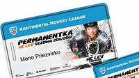 Vzor permanentky pro premiérový ročník popradského Lva v KHL.