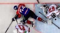 Snímek ze souboje Kazaně s Balašichou ve finále KHL
