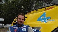 Aleš Loprais s novým závodním kamiónem Tatra.
