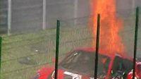 Havárie ferrari GT3 polského pilota Radoslawa Kordeckého na Slovakiaringu.