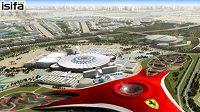 Model centra v Abú Dhabi, jehož součástí je vedle okruhu Jas Marina pro F1 také vůbec první tematický zábavní park Ferarri.