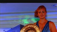 Na večeři šampiónů byla středem pozornosti Petra Kvitová.