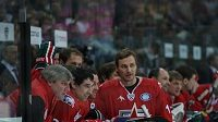 Sergej Fjodorov (zcela vpravo) při Utkání hvězd KHL