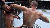 Loket z otočky. Rozhodující moment druhého zápasu Jiřího Procházky v UFC.