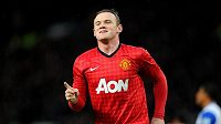 Wayne Rooney se v dresu Manchesteru United raduje z branky.