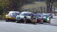 Klokani kličkovali mezi závodními auty.