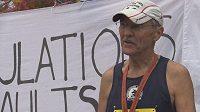 John Maultsby, muž, který v 73 letech dokončil 50 maratónů v 50 státech USA. Gratulace.