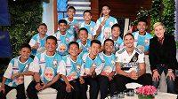 Zlatan Ibrahimovic překvapil osobním setkáním dvanáct thajských chlapců.