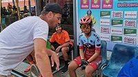 Bývalý mistr světa v dráhové cyklistice Marc Ryan (vlevo)