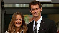 Andy Murray a jeho žena Kim.