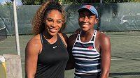 Serena Williamsová se na sezonu připravuje s Coco Gauffovou.