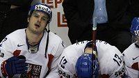 Smutek na české střídačce po prohře se Švédy ve čtvrtfinále MS 2008 - ilustráční foto