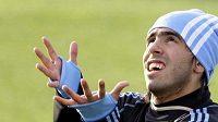 Argentinský fotbalista Carlos Tévez