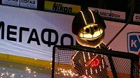Maskot hokejistů Dynamo Riga