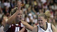Česká basketbalistka Markéta Bednářová na ME v Lotyšsku