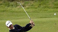 Německý golfista Martin Kaymer během tréninku na British Open