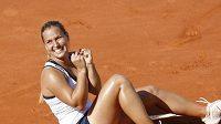 Šťastná Dominika Cibulková po postupu do semifinále French Open
