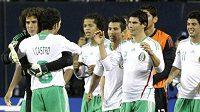 Radost fotbalistů Mexika