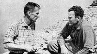 Radovan Kuchař (vlevo) a Zdeno Zibrín po úspěšném průstupu obávanou severní stěnou Eigeru.