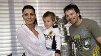 Petr Sýkora s manželkou Renatou a tříletým synem Nicholasem