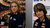 Rychlobruslařky Martina Sáblíková (vpravo) a Karolína Erbanová se představí na mistrovství Evropy ve vícebojích