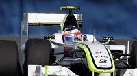 Rubens Barrichello v tréninku na Velkou cenu Evropy