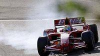 Felipe Massa poprvé po červencové nehodě usedl do monopostu F1