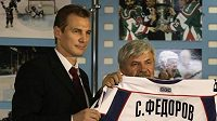 Sergej Fjodorov a šéf Magnitogorsku Gennadij Veličkin