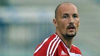 Útočník Dukly Praha Luděk Zelenka vstřelil na podzim Třinci gól.
