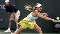 Slovenská tenistka Daniela Hantuchová při zápase na turnaji v Indian Wells.
