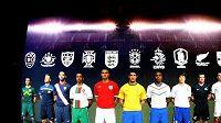Fotbaloví reprezentanti jednotlivých zemí, které na MS budou hrát v dresech od společnosti Nike.